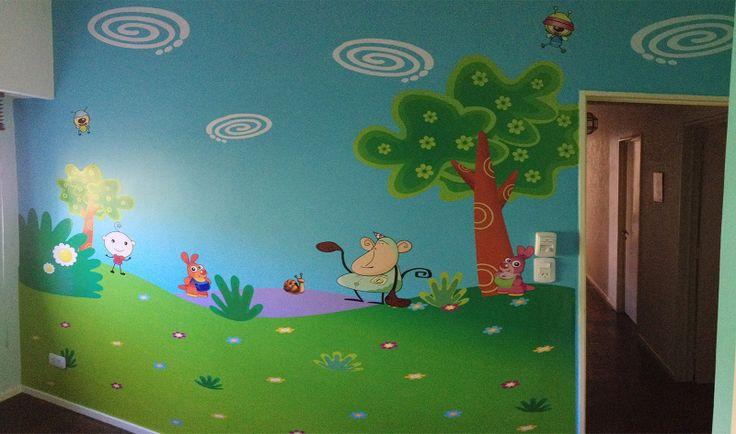 Decoración dormitorio infantil con personajes tv