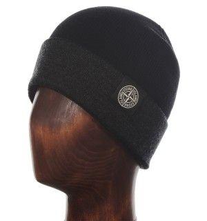 Stone Island Black & Charcoal Grey Beanie Hat