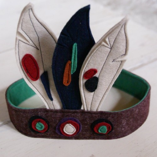 felt indian headdress