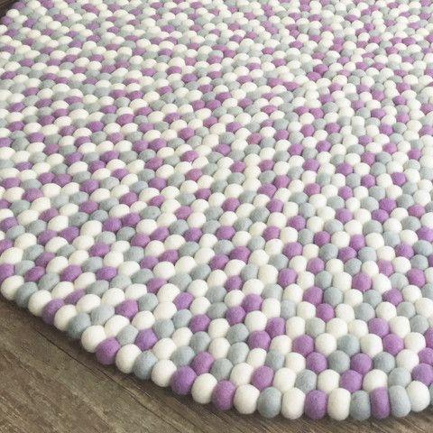 Felt Ball Rug - Lady Lilac