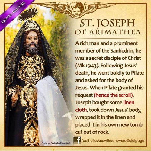Saint Joseph Of Arimathea provided a tomb for Jesus.