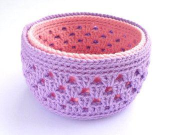 Cesta de ganchillo crochet el tazón de fuente por Lulaor en Etsy