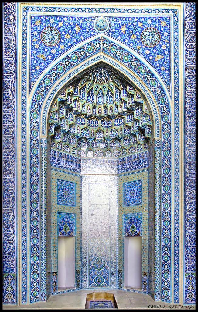 محراب مسجد جامع کبیر یزد--Yazd Jaame Mosque's altar | adam ...