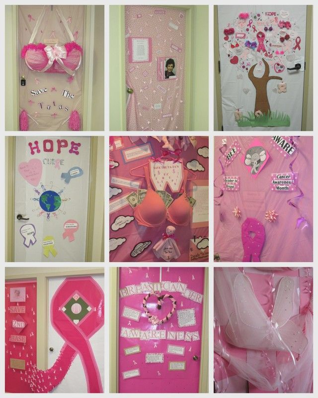 RE/Max Alliance celebrated Breast Cancer Awareness by decorating our doors!