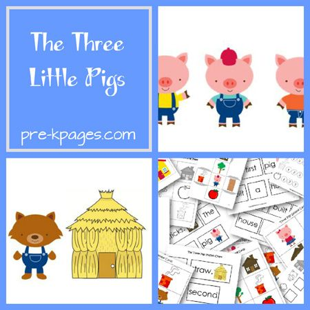 Three Little Pigs Fairy Tale Activities for Preschool and Kindergarten via www.pre-kpages.com