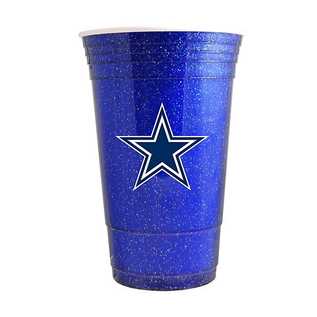 Dallas Cowboys Blue Sparkle Cup | Glassware | Home U0026 Office | Accessories |  Cowboys Catalog