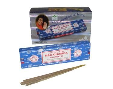 Nag Champa - Agarbatti 100g Incense Sticks - Nag Champa is one of the world's best selling incense sticks.  Brought to you from the Hindu and Buddhist monasteries of India and Nepal this selection of incense is world known and one of the best. These sticks come in 100g packs.    Made from a sandalwood base with a variety of flower oils added to give each scent a unique fragrance that will fill your home and bring a greater feeling of peace and tranquility.