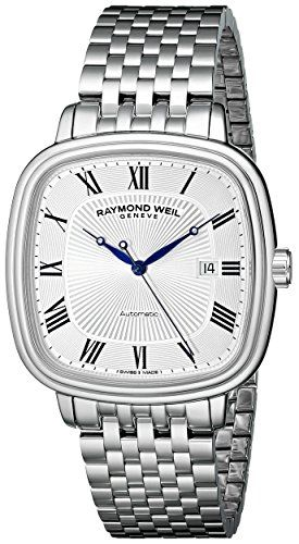 Men's Wrist Watches - Raymond Weil Mens 2867ST00659 Maestro Analog Display Swiss Automatic Silver Watch *** Want to know more, click on the image.
