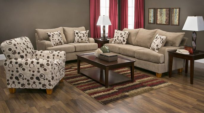Bella Coffee Living Room Pictured W Accent Chair