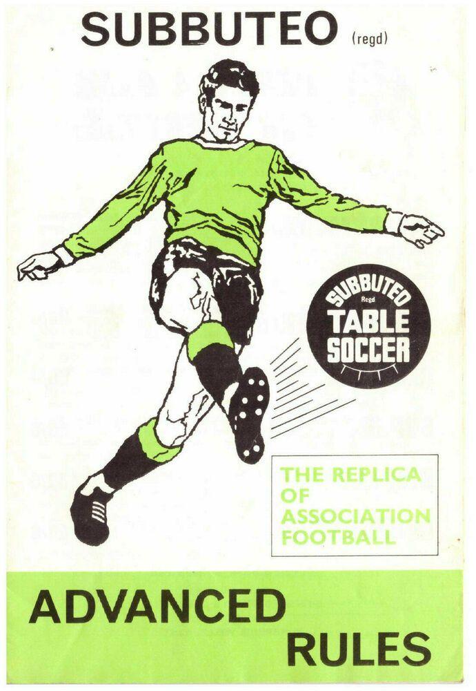 Subbuteo Advanced Rules Playing Rules Rare Football Accessories In 2020 Football Accessories Soccer Table Football