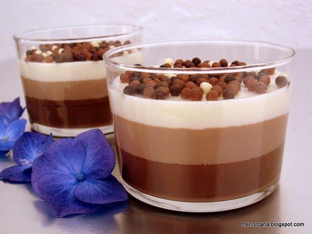 Vasitos tres chocolates