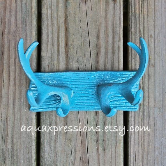 Deer Hook Antlers /Wall Hook /Shabby Chic by AquaXpressions,