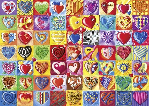 Puzzles Schmidt - Puzzle de 1000 Piezas Corazones Unidos en CasaDelPuzzle Tienda de Puzzles y Rompecabezas.