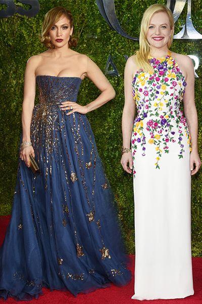 2 σε 1, η Jennifer Lopez και η Elisabeth Moss ήταν οι μόνες που ξεχώρισαν στο κόκκινο χαλί των φετινών Tony Awards. Η Λατίνα σταρ επιτέλους αποχωρίστηκε τις σέξι εμφανίσεις με τουαλέτα Valentino, ενώ η πρωταγωνίστρια του Mad Men προτίμησε Oscar de la Renta δημιουργία! http://pressmedoll.gr/