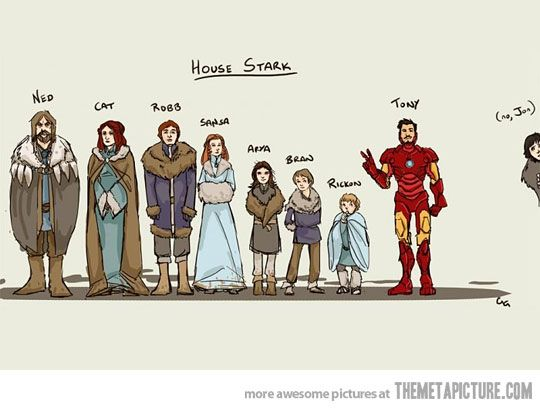 Haha saw this Stark family portrait long before I watched Game of Thrones or started reading A Song of Ice and Fire. But it still makes me giggle every time I see it.