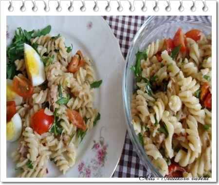 Jedlíkovo vaření: Těstovinový salát s tuňákem #recipe #czech #vejce #tunak  #recept #salat