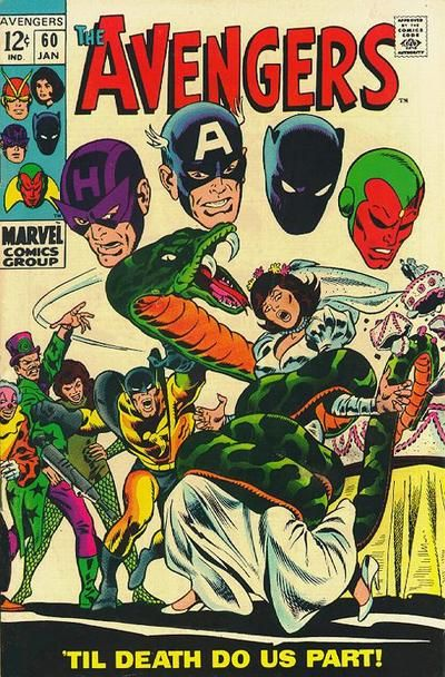 Avengers #60, the wedding of the Wasp and Yellowjacket, the Ringmaster's Circus of Crime