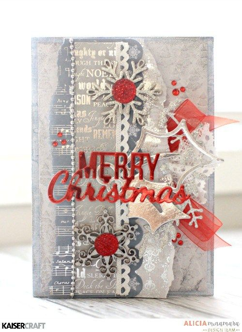 Kaisercraft Silent Night Christmas Card by Alicia McNamara