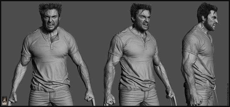 Making Of Wolverine Character with Zbrush by Hossein Diba 07