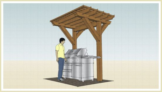 2 Post BBQ Pergola Ideas Pinterest