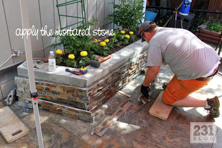 231 Designs: DIY SLATE LEDGE STONE PLANTER BOXES