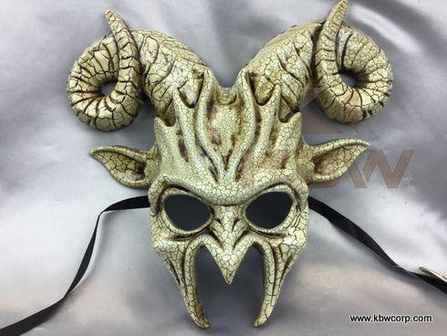 Ceramic crackle look goat mask