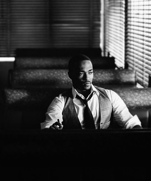 """ Every time I get mad, I grab my hammer and make a bookshelf or something. (Anthony Mackie by Nicholas Maggio) """