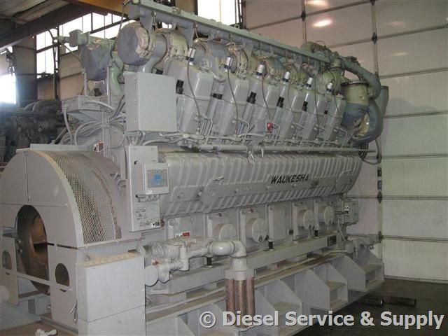 Waukesha 4200 kW Natural Gas Generator New, Voltage 7200/12470, 60 Hz #naturalgasgenerator #waukesha4200kW