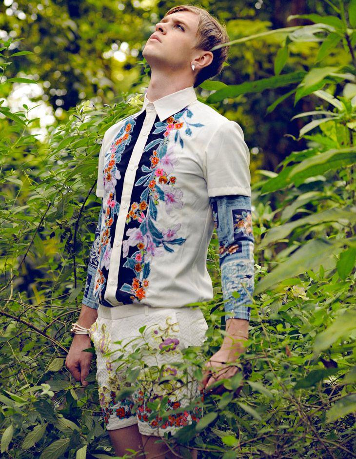 afreeboy:  Sam Walker by Herson Nebaya... Men's floral fashion