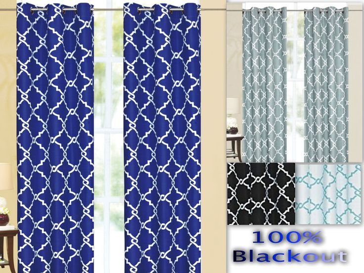 "Galaxy 100% Thermal Blackout Grommet Window Curtain Panel Heavy Extra Wide 55"" #Empire"