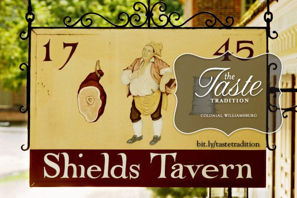 Shields Tavern Dinner - Colonial Williamsburg's The Taste Tradition Weekend.