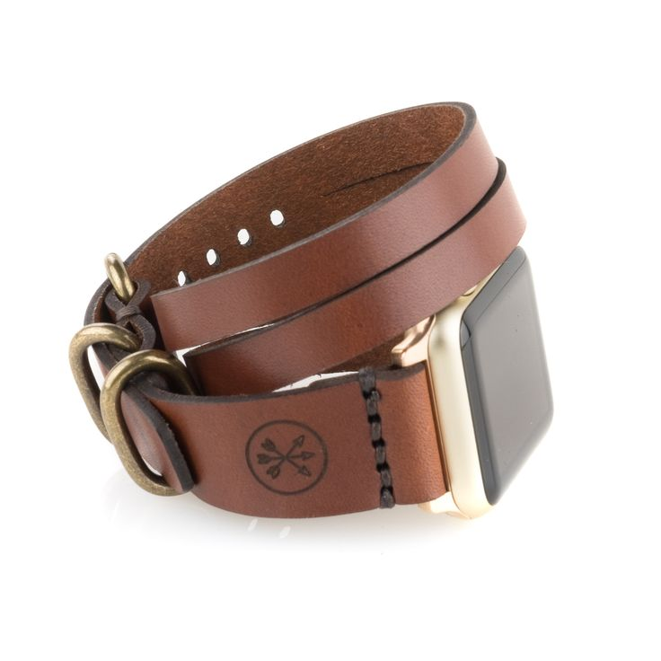 Apple Watch Triple Tour Band - Medium Brown