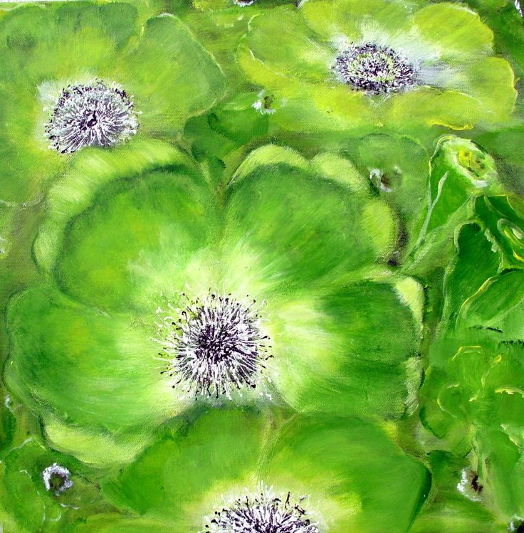 """""""Green in green"""" Acrylic on canvas"""