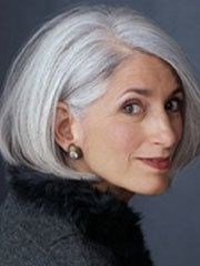 hair styles for women with gray hair | Hair Styles for Mature Women