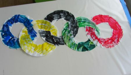easy olympic rings craft for kids