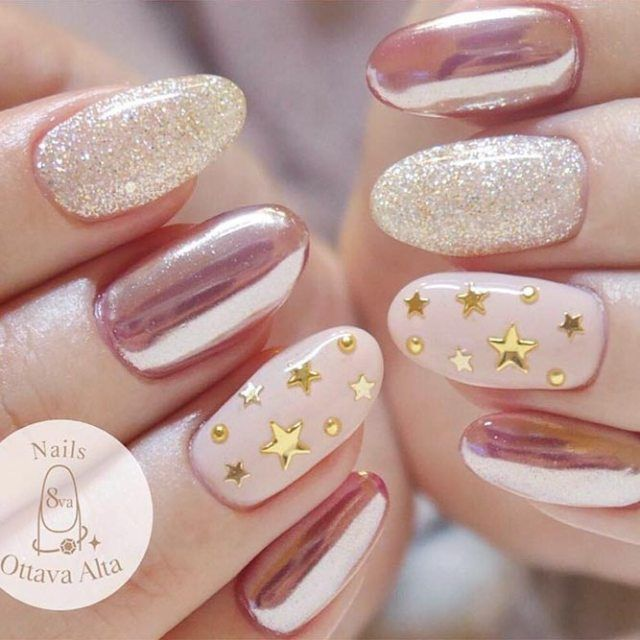 20 Star Nails Art Ideas For Your Brilliant Look #nailart
