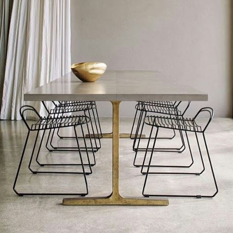 cement top table --- love love love