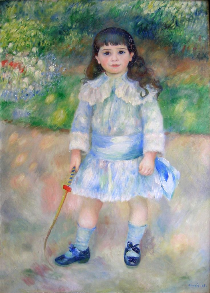 """Pierre Auguste Renoir - """"Girl with a whip"""", 1885."""
