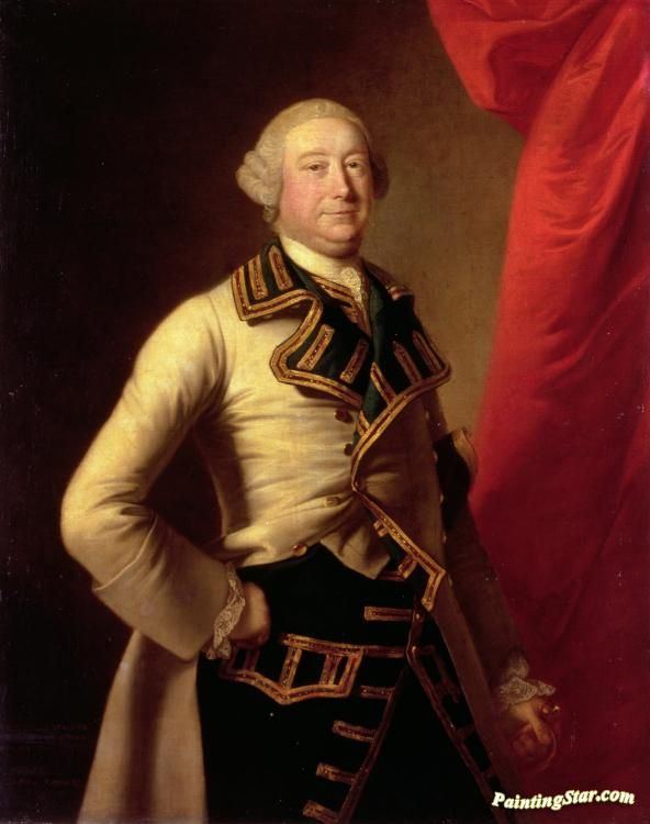 Portrait of john rolle walter(1712-1779) of stevenstone and bicton,devon,mp for exeter Artwork by Thomas Hudson Hand-painted and Art Prints on canvas for sale,you can custom the size and frame
