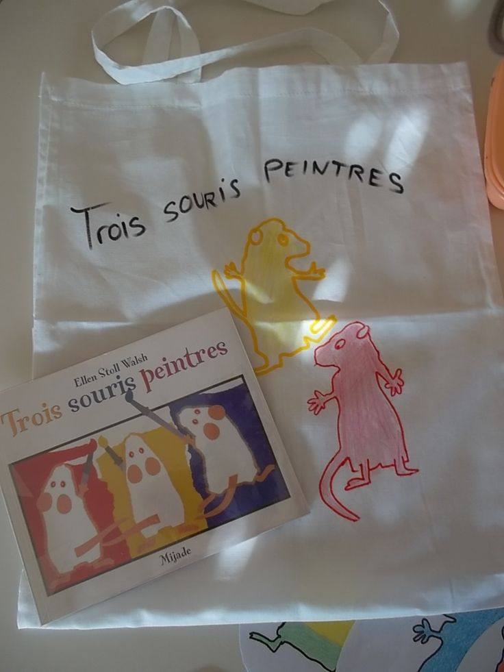 """Sac à album n°5 """"les trois souris peintres"""""""
