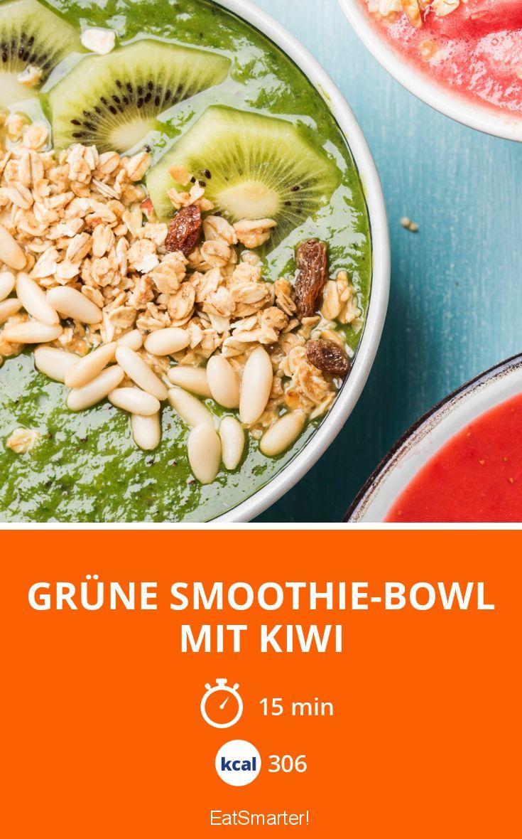 Grüne Smoothie Bowl Mit Kiwi Rezept Lecker Frühstück Smoothie