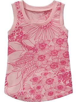 Patterned Jersey Tanks for Baby