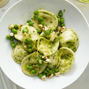 Ravioli With Peas ans pesto