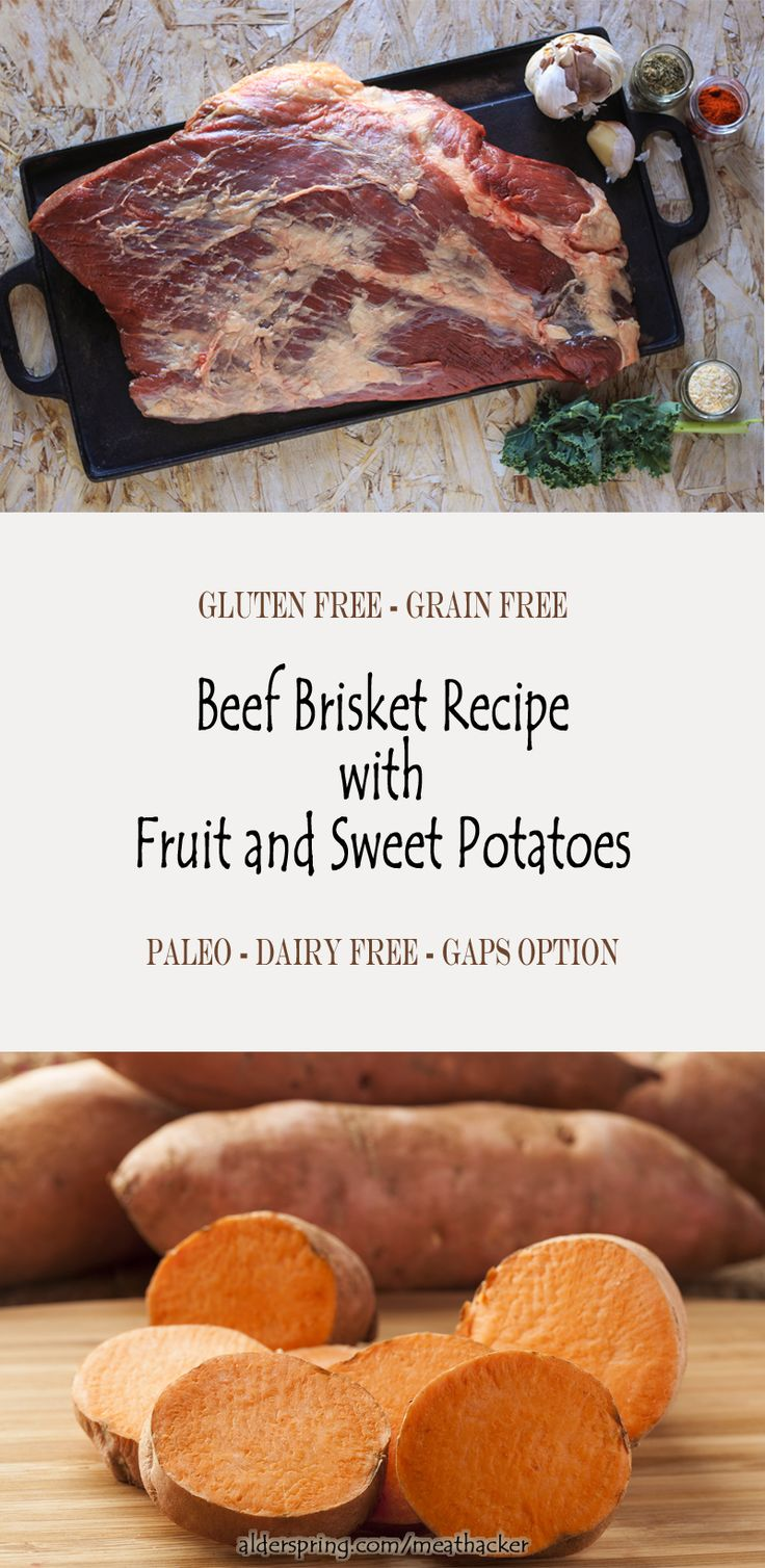 This beef brisket recipe is rich, and somewhat sweet, but not cloyingly so. The dish is best made ahead a day or two, so is perfect for an informal midweek company dinner or a family dish on a busy night. (Gluten free, Grain Free, Paleo, GAPS Option, Dairy Free, Egg Free, Soy Free, Nut Free, Refined Sugar Free)