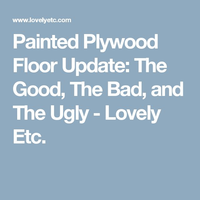 Basement Flooring Upgrade In Linden Ab: 25+ Best Ideas About Painted Plywood Floors On Pinterest