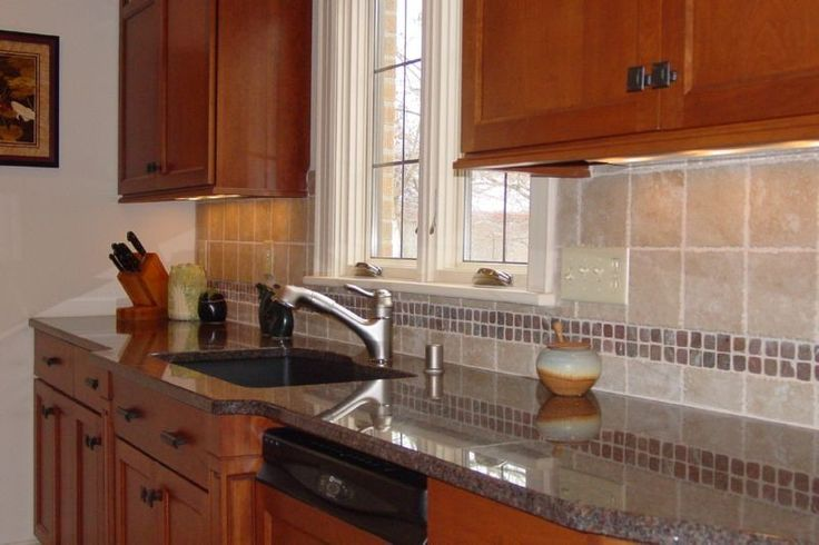 Classic Backsplash With Granite Countertops Kitchen