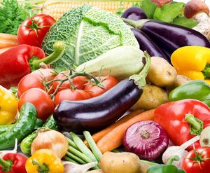 What's in the vegetables and legumes / beans group?