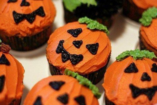 Halloween Pumpkin DIY Cupcakes Kids Party Food Dessert Snack