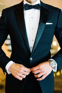 The classic black tuxedo is always in style | Wedding Ideas