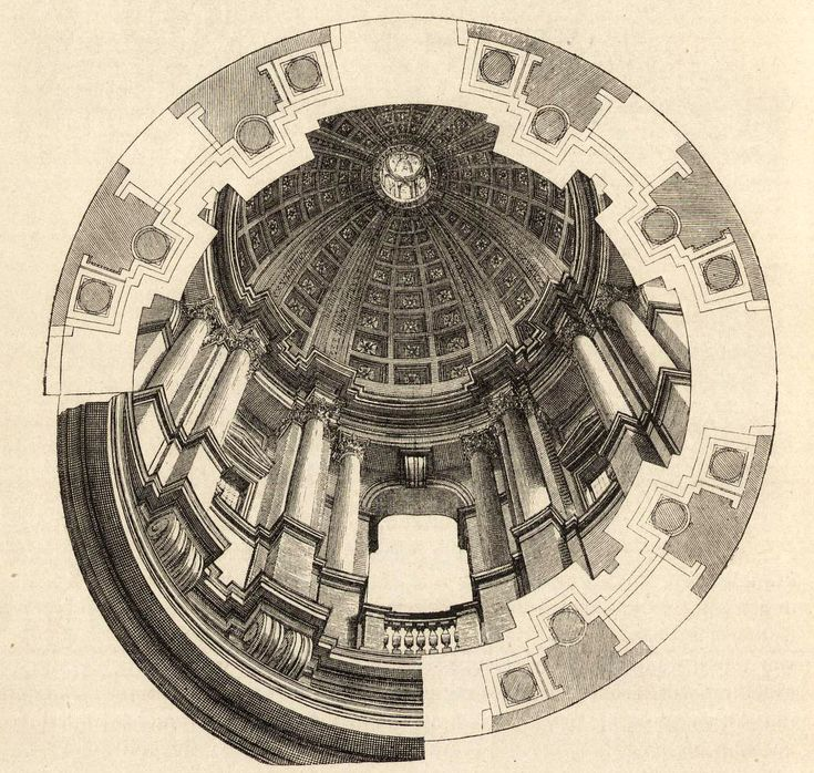 Design for the dome of San Ignazio, Rome